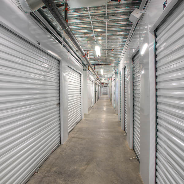 Indoor storage units at StorQuest Self Storage in Seattle, Washington