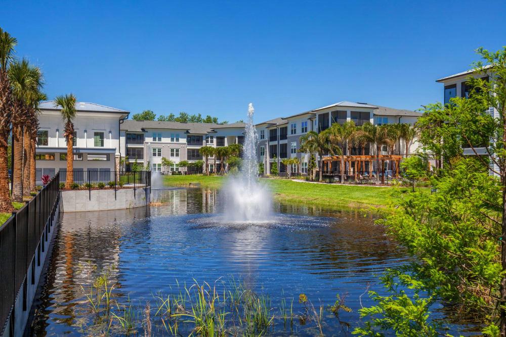 Community Pond at Linden Audubon Park in Orlando, Florida