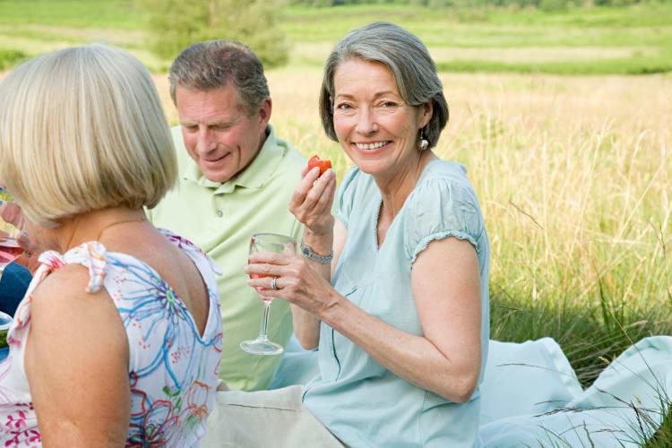 Residents having a picnic at BPM Senior Living