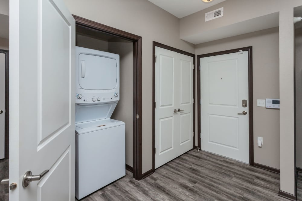 In-unit washer and dryer at Autumn Ridge in Waukee, Iowa