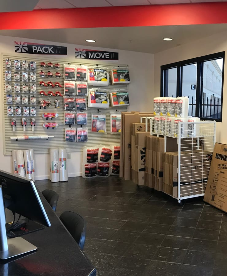 Packing supplies available at StorQuest Self Storage in Reno, Nevada