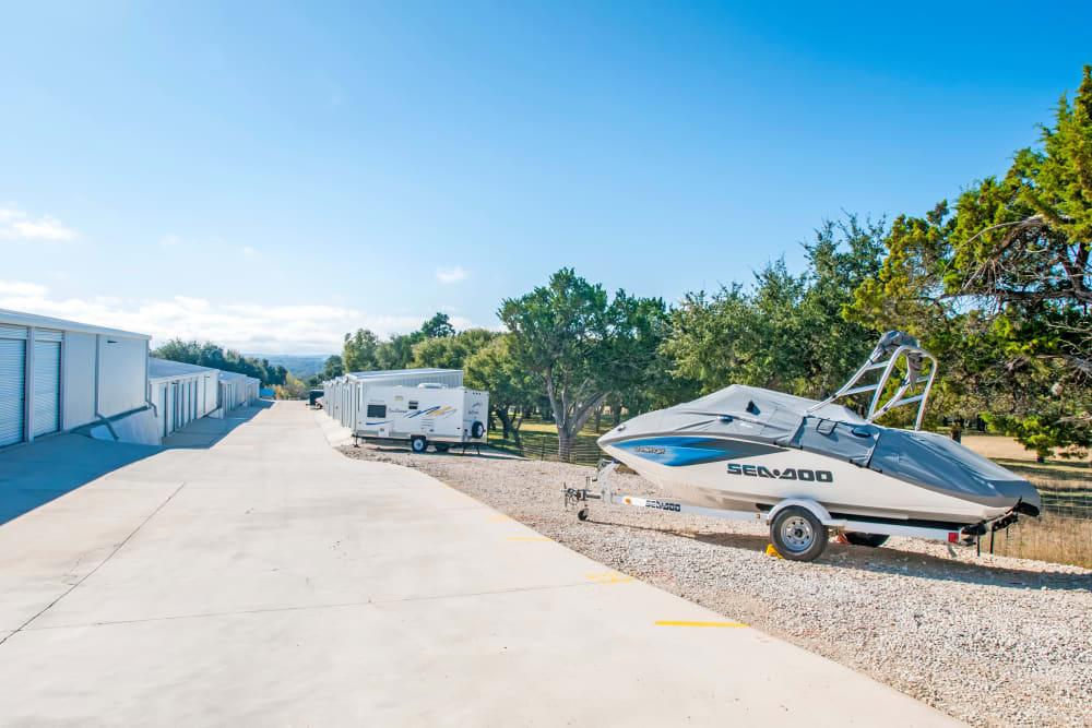 RV, Auto, & Boat Storage at Lockaway Storage in Boerne, Texas