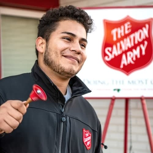 the salvation army collecting donations