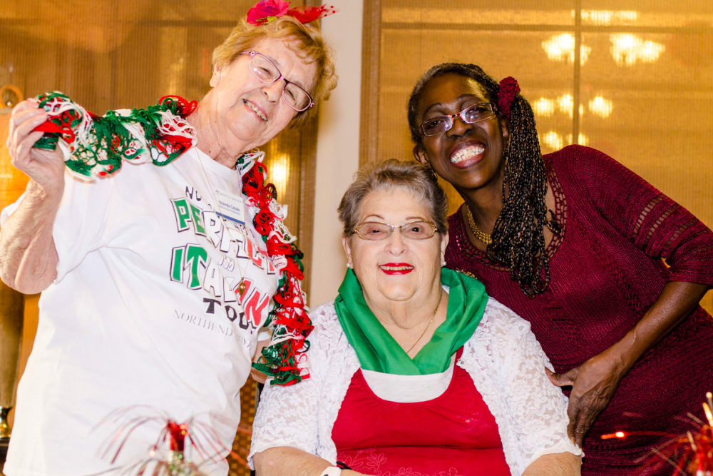 Residents having a blast at our around the world celebrations