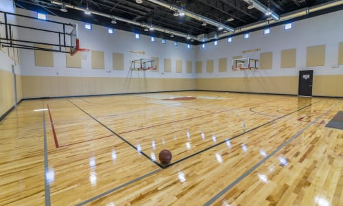 Basketball court at EVO Apartments in Las Vegas, Nevada