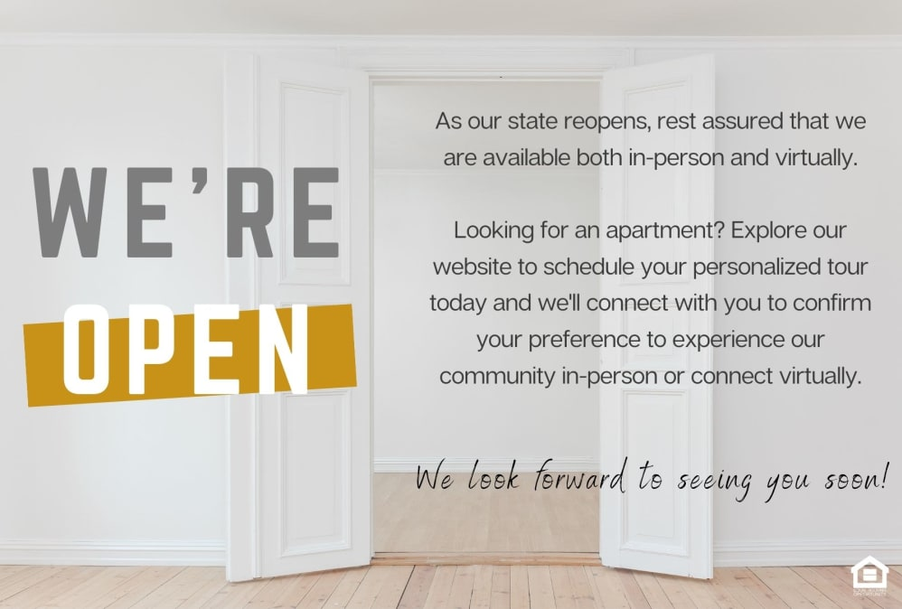 we are open virtually at 4000 Hulen Urban Apartment Homes