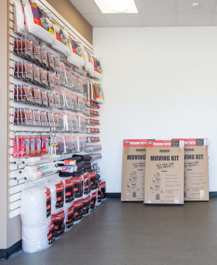 Boxes and moving supplies available at StorQuest Self Storage in Jersey City, New Jersey