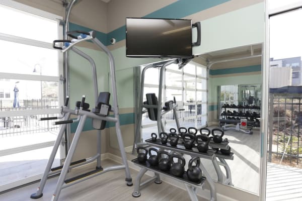 Fitness center at Springs at Laurens Road in Greenville