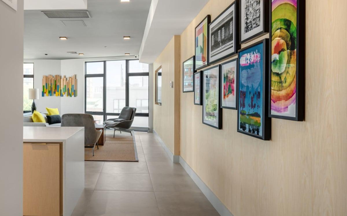 5th floor deck at Arthaus Apartments in Allston, Massachusetts