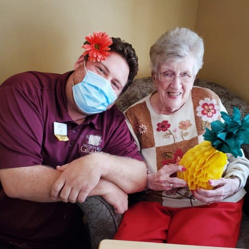Team member and resident at The Oxford Grand Assisted Living & Memory Care in Wichita, Kansas