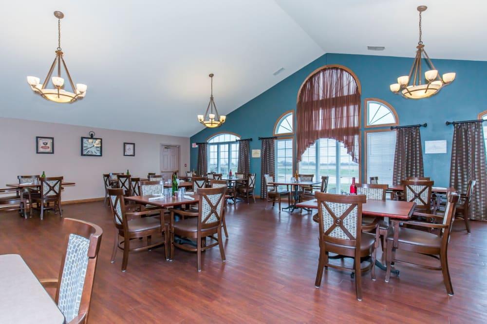 Elegant dining room at Brookstone Estates of Tuscola in Tuscola, Illinois