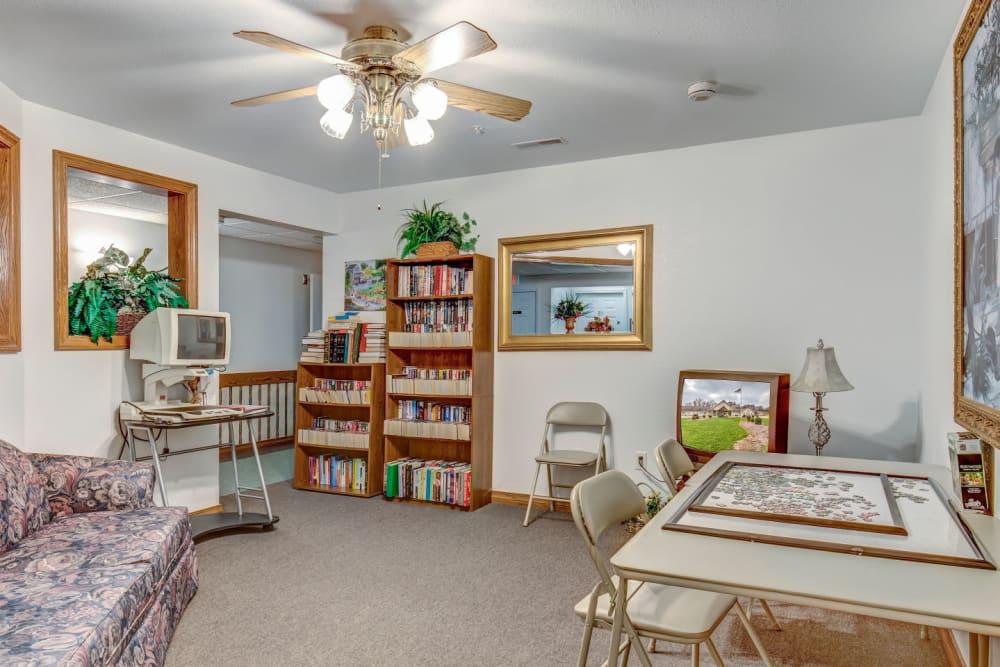 Fun reading and game room  at Brookstone Estates of Paris in Paris, Illinois