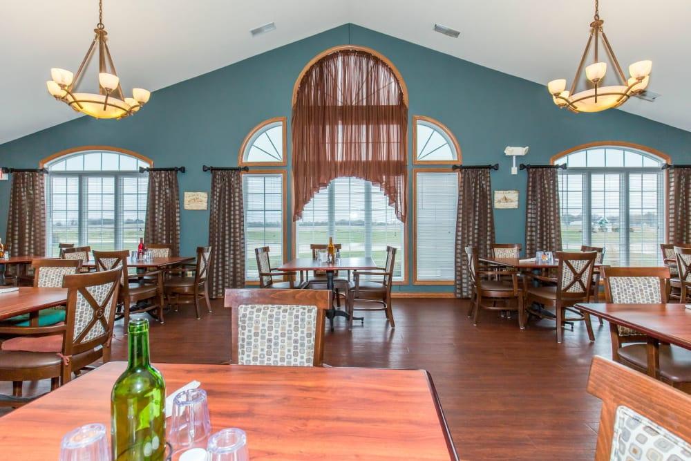 Dining room at Brookstone Estates of Tuscola in Tuscola, Illinois