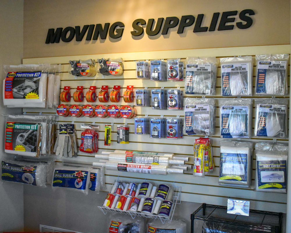 Moving supplies available at STOR-N-LOCK Self Storage