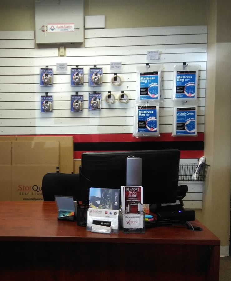 Boxes and moving supplies available at StorQuest Self Storage in Honolulu, Hawaii