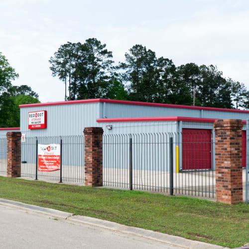 Outdoor storage units at Red Dot Storage in Hammond, Louisiana