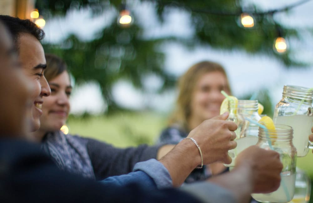 Residents enjoying drinks near The Loop on Greenfield in Oak Park, Michigan