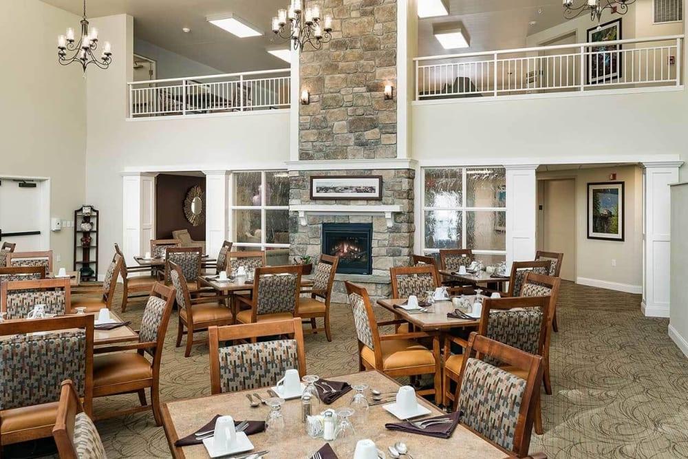 Elegant formal dining area at The Springs at Grand Park in Billings, Montana
