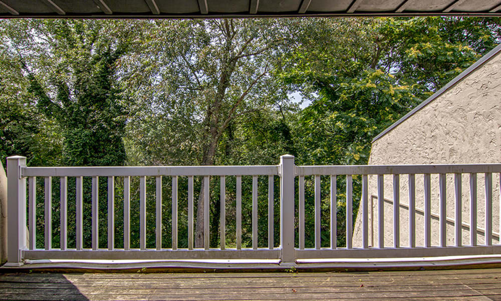 Balcony at The Cascades Townhomes and Apartments in Pittsburgh, Pennsylvania