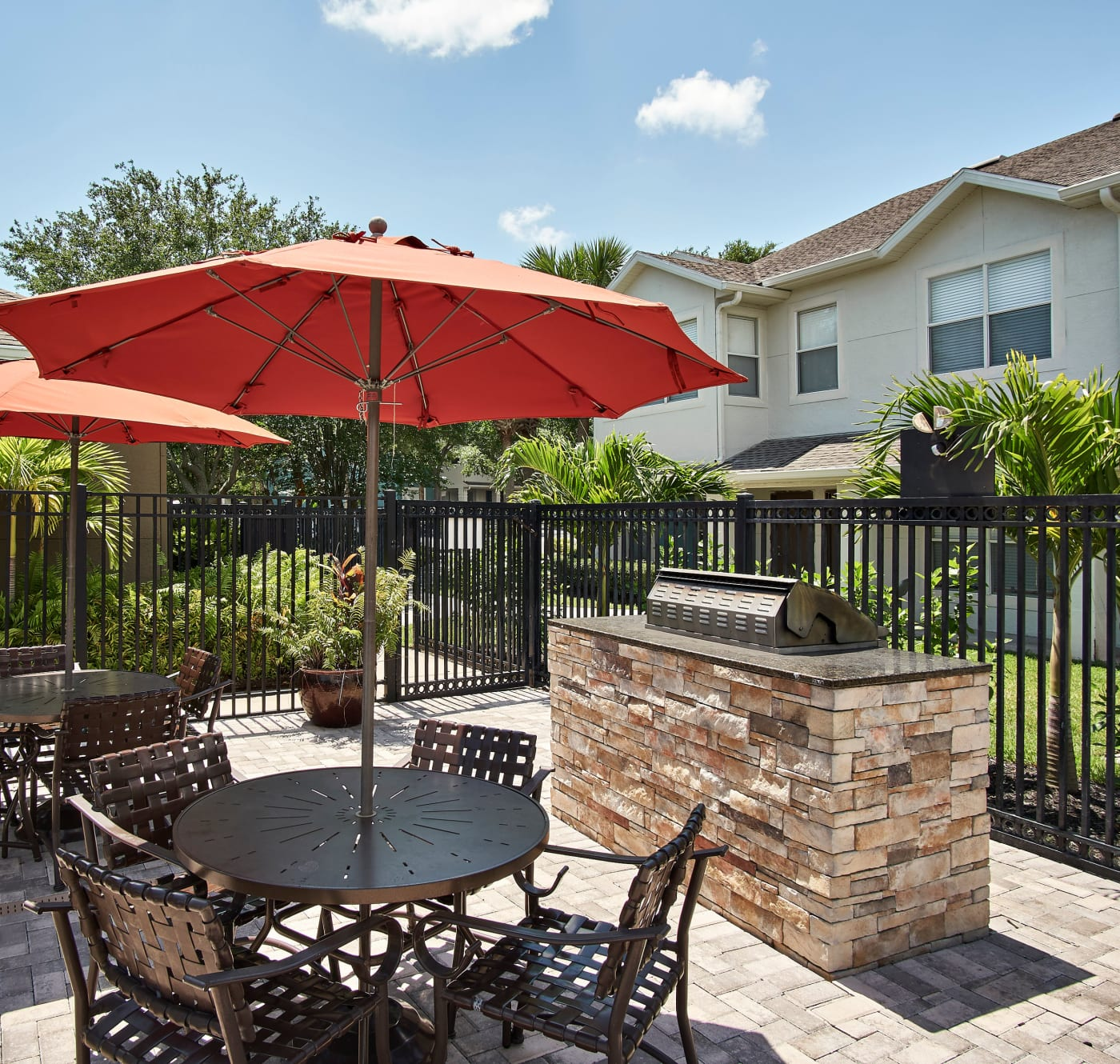 The clubhouse lounge at Calais Park Apartments in St Petersburg, Florida
