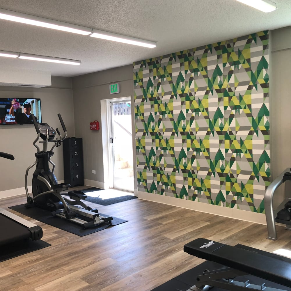 24 HR Fitness Center at Forest Cove Apartments in Denver, Colorado