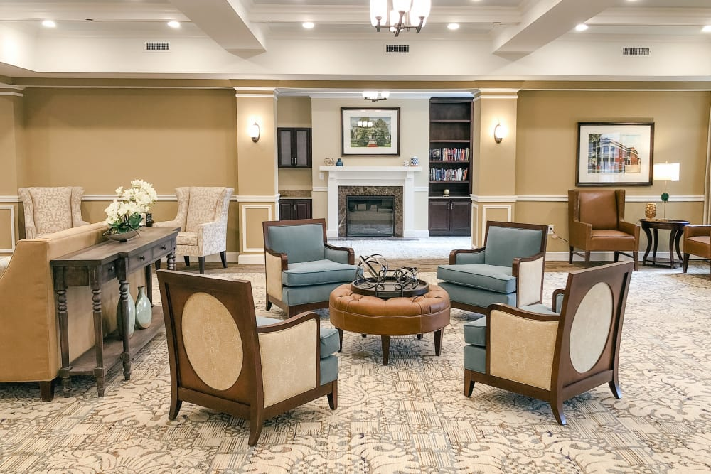 Front lobby at Harmony at Greensboro in Greensboro, North Carolina