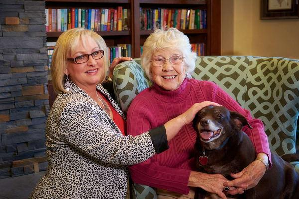 Variety of amenities at senior living community in Centennial, CO