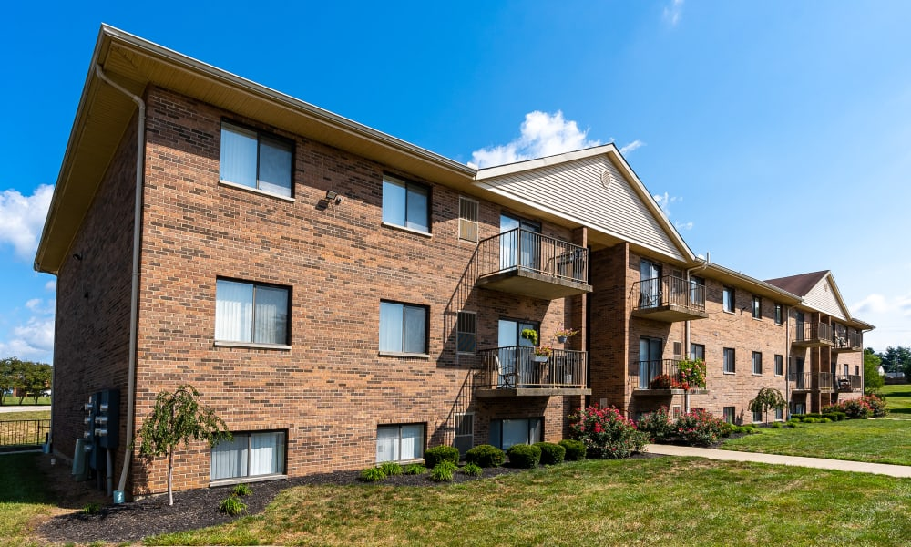 Apartment homes at Indian Footprints Apartments in Harrison, Ohio
