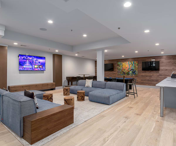 Game room in Axis 3700's clubhouse in Plano, Texas