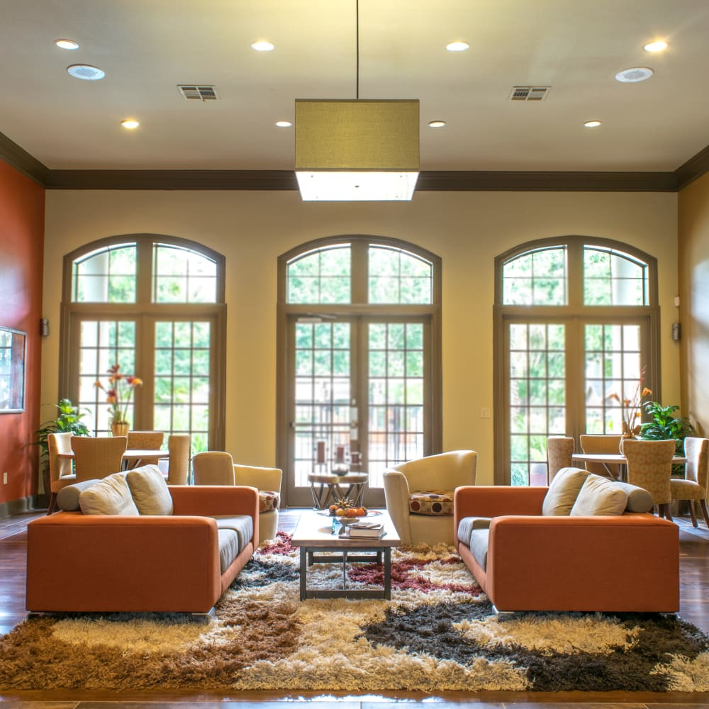 Luxurious clubhouse at Alon at Castle Hills in San Antonio, Texas