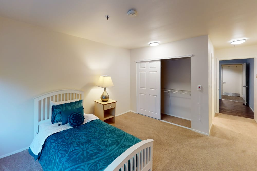 resident bedroom with closet space