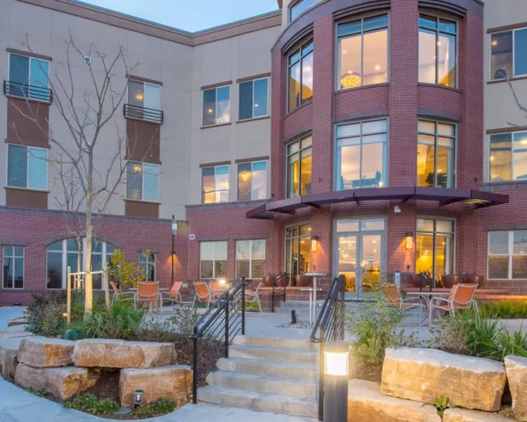Beautifully designed independent living building at Village at Belmar