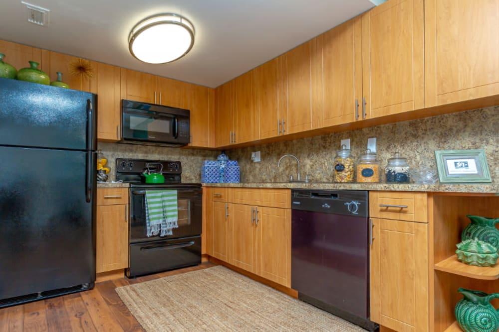 Kitchen at Fairway View Apartments in Hialeah, Florida