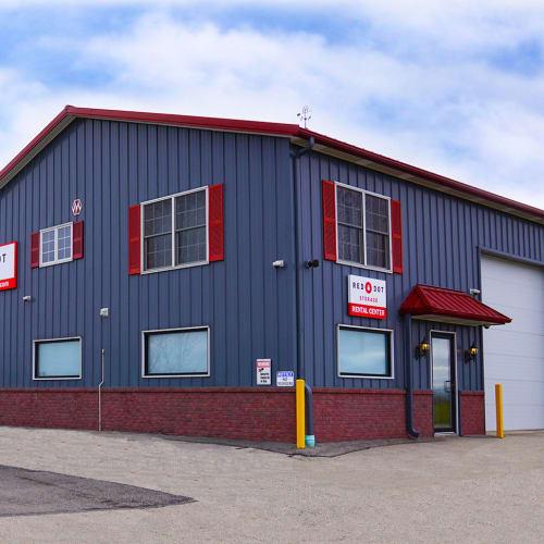 Exterior of Red Dot Storage in North Aurora, Illinois