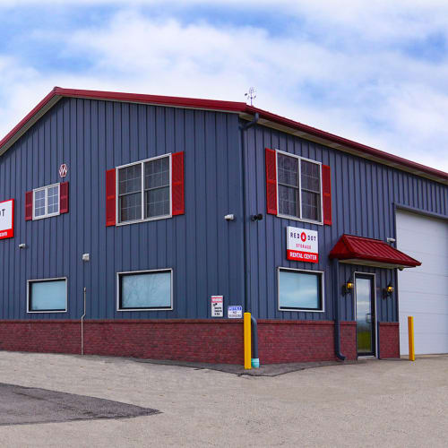 Exterior of Red Dot Storage in Genoa City, Wisconsin