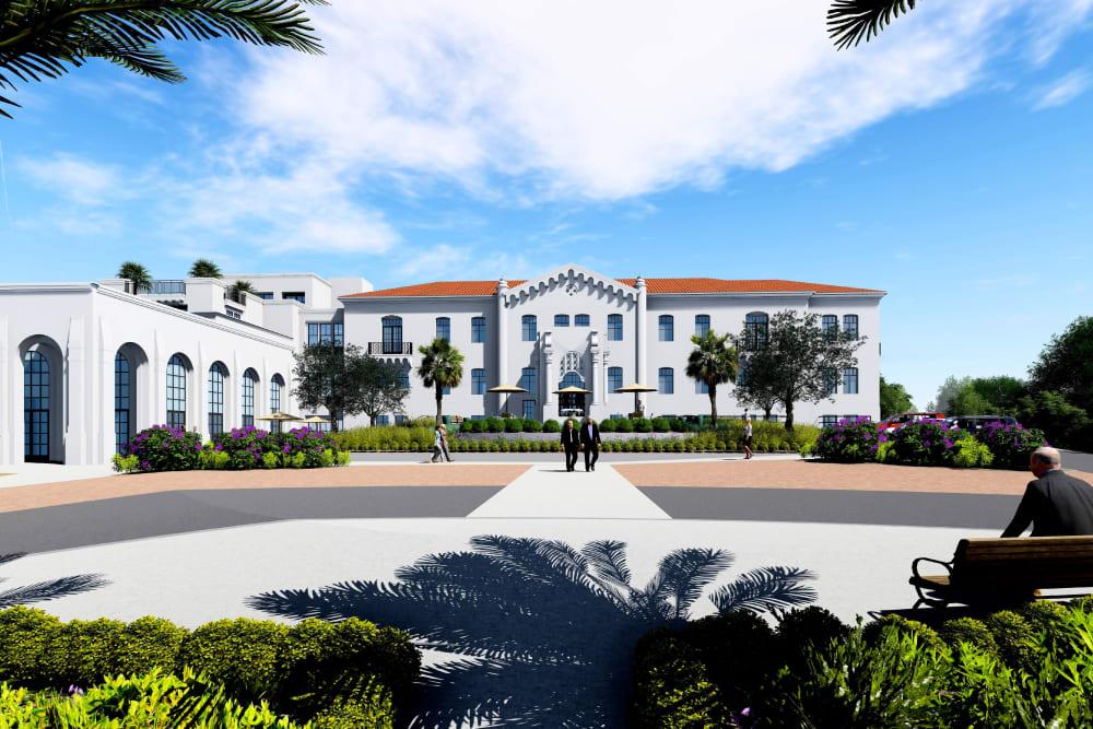 Rendering of main building at Elegance Hamilton Hill in Novato, California.