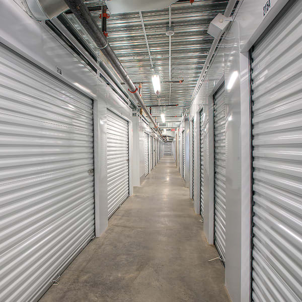 Indoor climate-controlled units at StorQuest Self Storage in Richmond, Texas