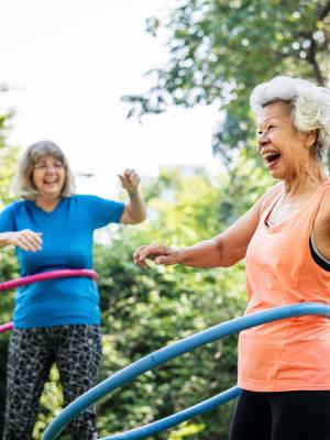 Residents having fun at Blossom Vale Senior Living in Orangevale, California