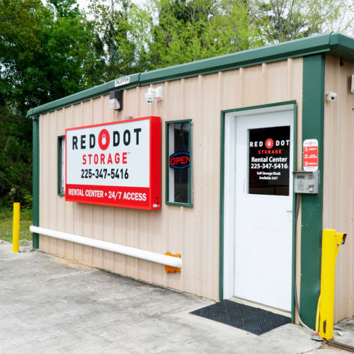 Rental center at Red Dot Storage in Walker, Louisiana