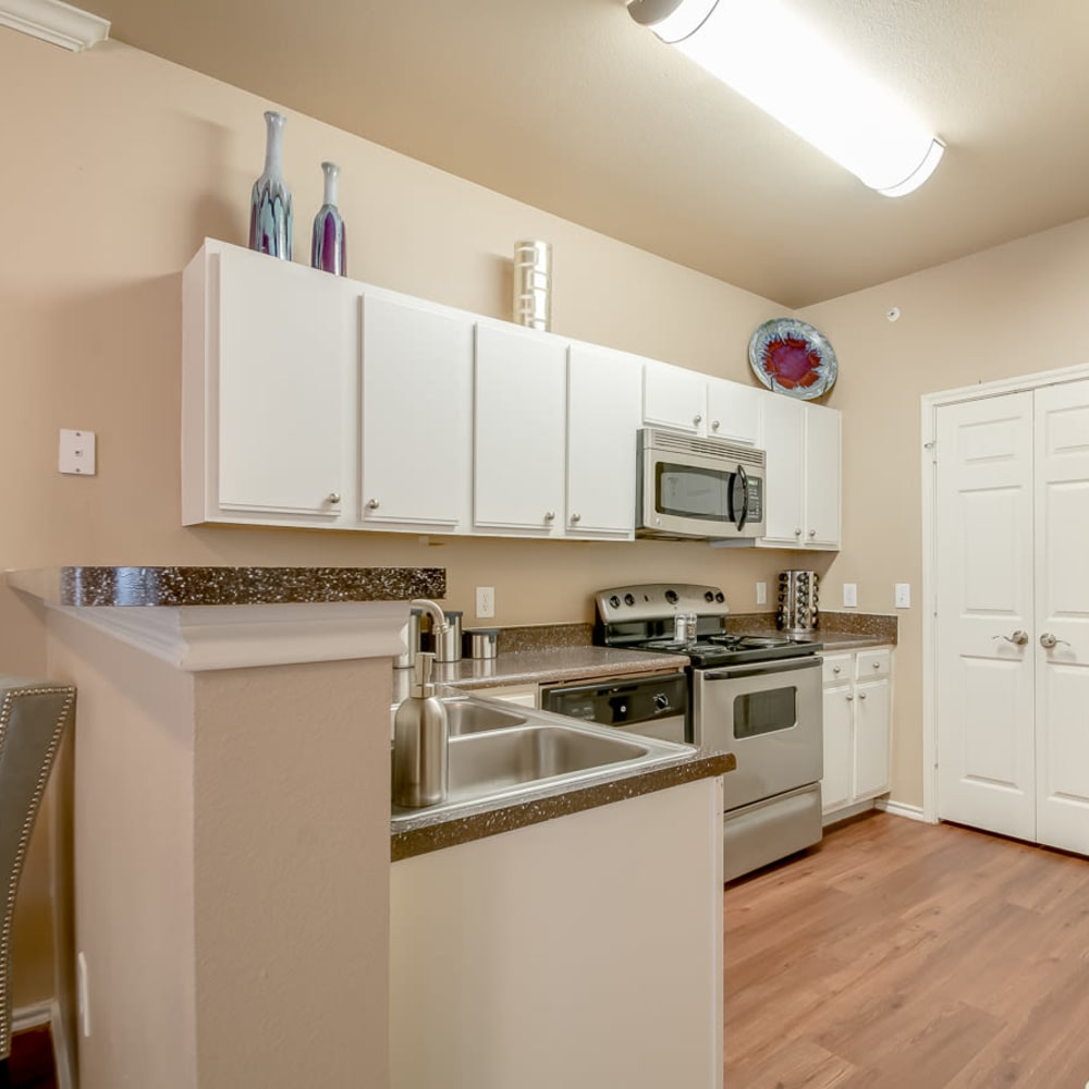 Large kitchen with a pantry at Alon at Castle Hills in San Antonio, Texas