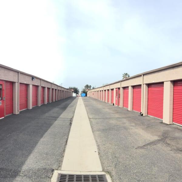 Outdoor storage units at StorQuest Self Storage in Camarillo, California