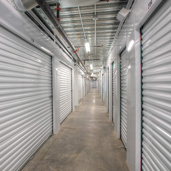 Climate-controlled indoor storage units at StorQuest Self Storage in North Miami Beach, Florida