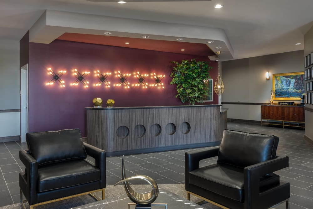 Seating in the lobby at Avenir Memory Care at Summerlin in Las Vegas, Nevada