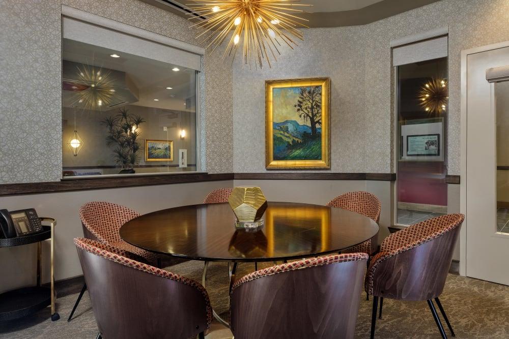 A private meeting room at Avenir Memory Care in Las Vegas, Nevada.