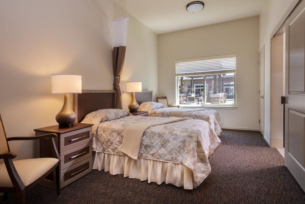 A shared bedroom at Avenir Memory Care at Summerlin in Las Vegas, Nevada