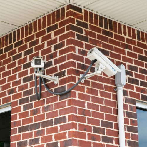 Security cameras at Red Dot Storage in Cedar Falls, Iowa