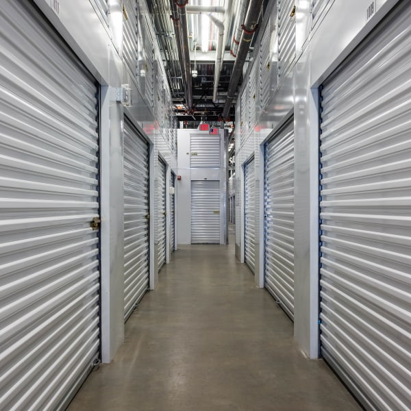Climate-controlled indoor storage units at StorQuest Self Storage in Jersey City, New Jersey