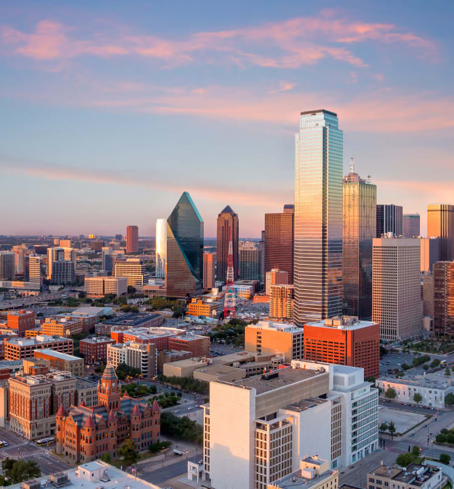 Views of Dallas, Texas from Marquis at Texas Street