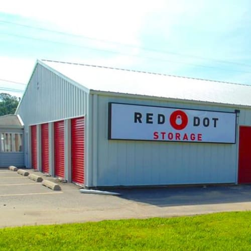 Outdoor storage units at Red Dot Storage in Radcliff, Kentucky