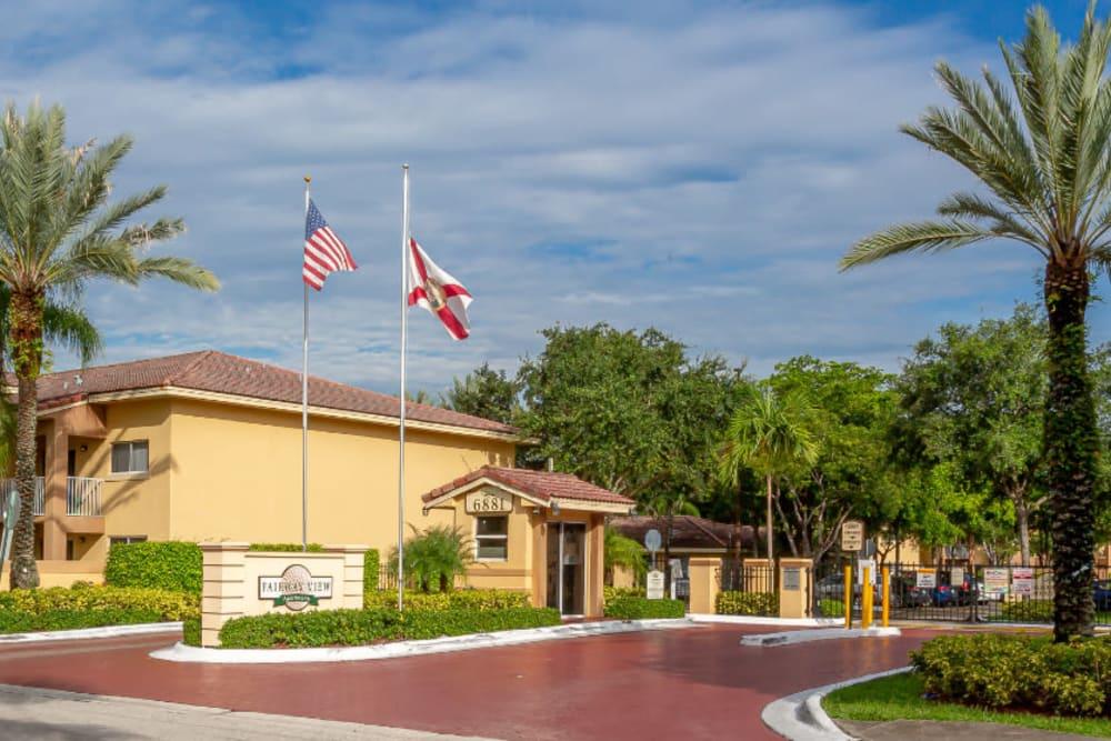 Entryway at Fairway View Apartments in Hialeah, Florida